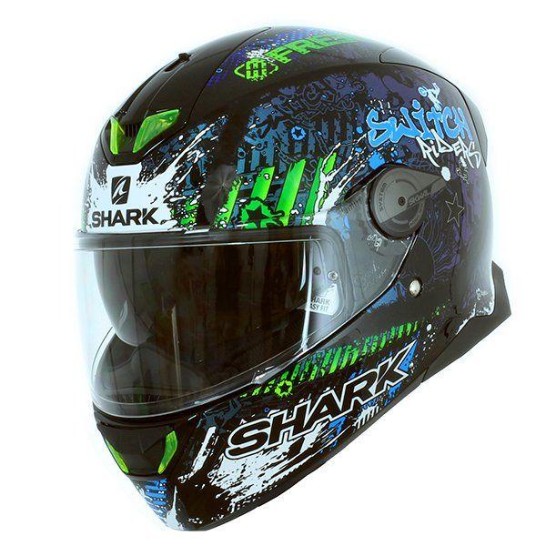 Casque Shark Skwal 2 Switch Rider 2 Noir Bleu Vert 23100